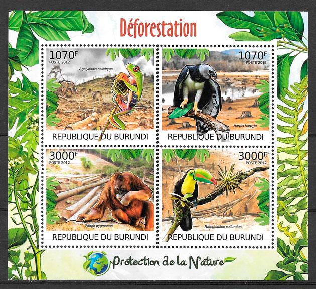 filatelia colección Burundi 2012