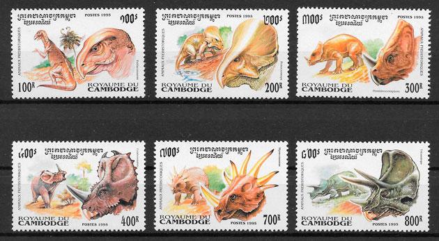 colección sellos Camboya