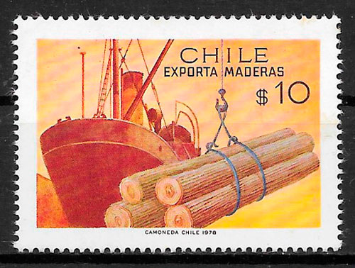 filatelia transporte Chile 1978
