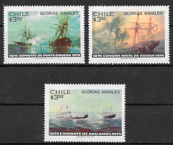 colección sellos transporte Chile 1979