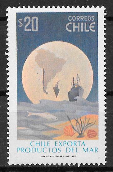 sellos transporte Chile 1982
