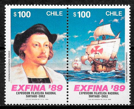 colección sellos transporte 1989