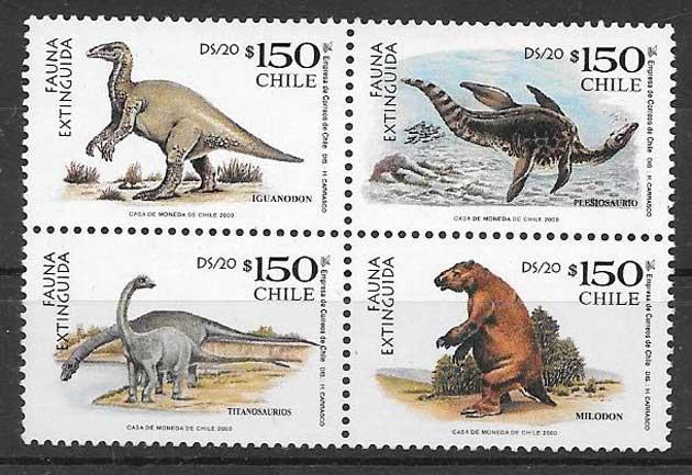 sellos colección fauna Chile 2000