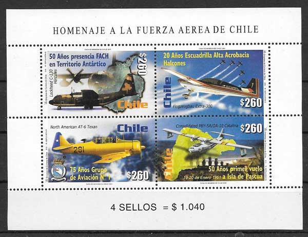 sellos transporte Chile 1991
