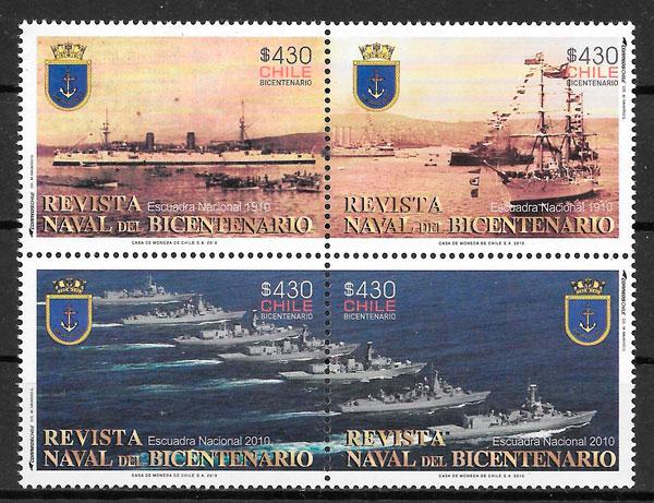 colección sellos transporte Chile 2010