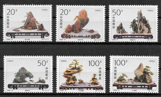 colección sellops flora China 1996