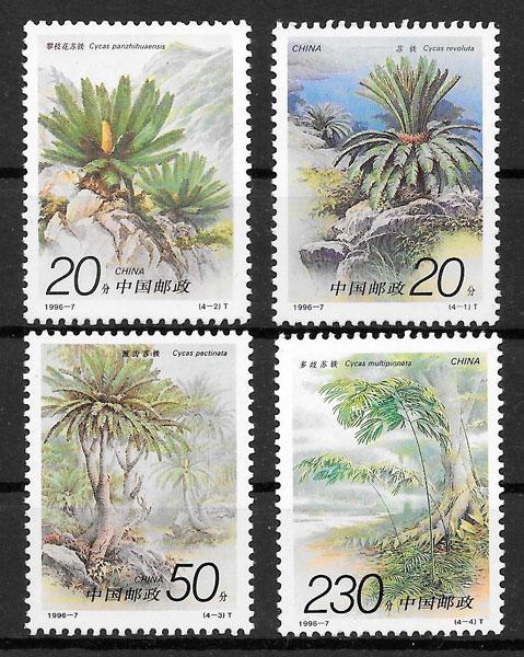 filatelia flora China 1996