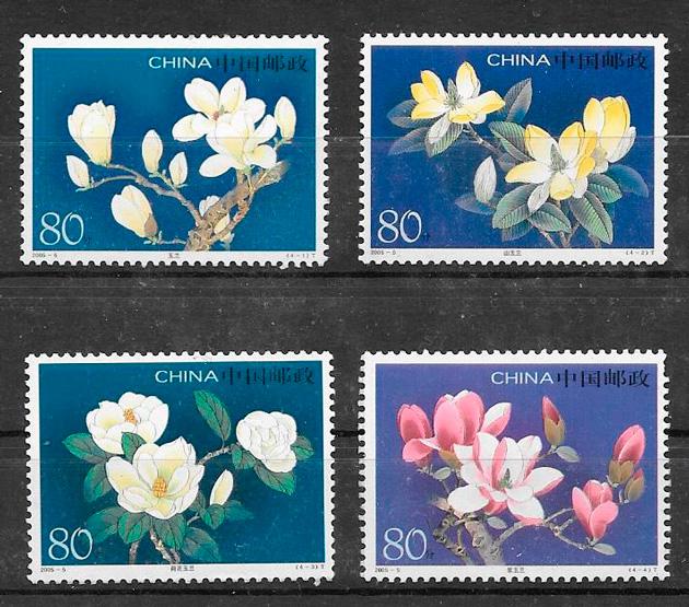 sellos flora China 2005