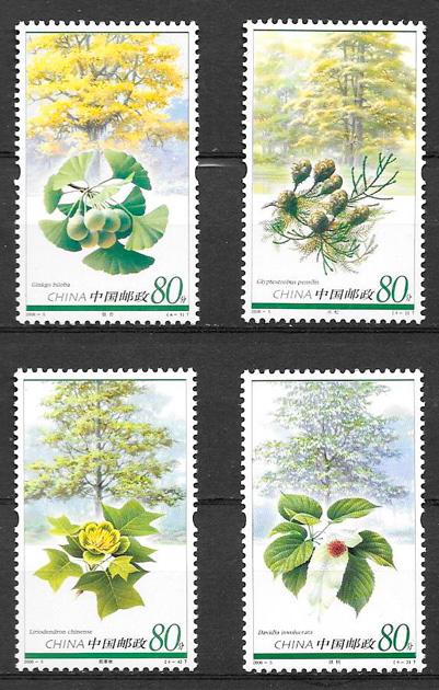 colección sellos flora China 2006