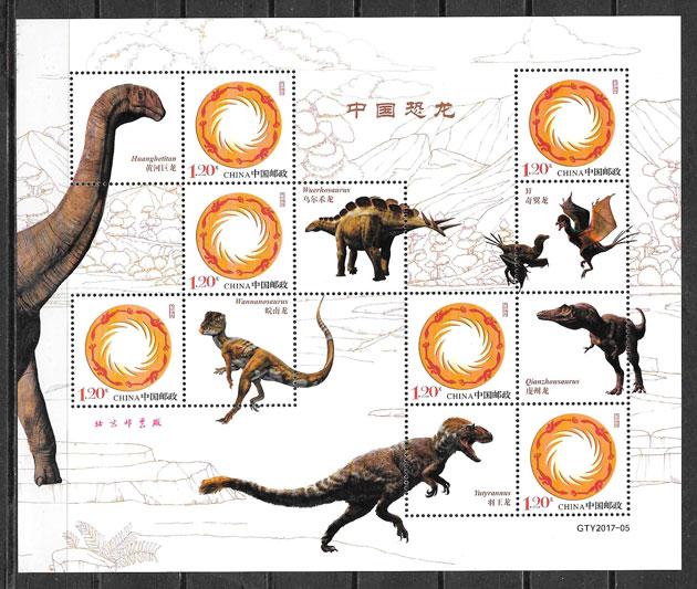 sellos dinosaurios China 2018
