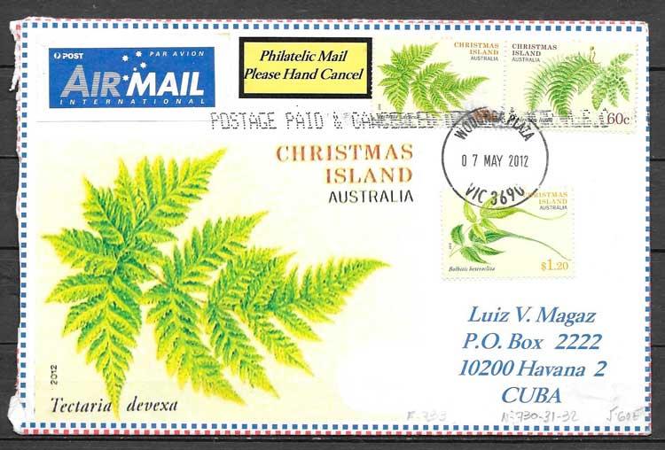filatelia flora Christmas Island 2012
