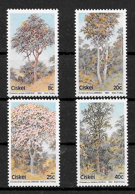 filatelia colección flora Ciskei 1983