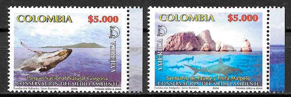 filatelia parques naturales Colombia 2004