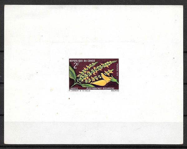colección sellos flora 1970 Congo