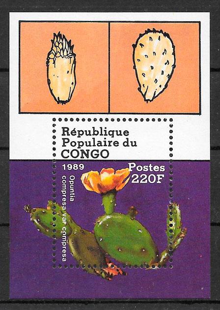 colección sellos flora Congo 1989
