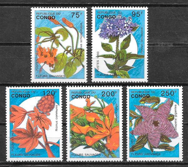 sellos flora Congo 1993