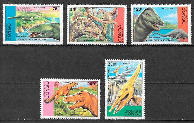 selos dinosaurios Congo 1993