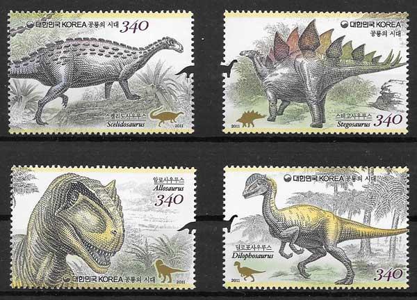 Filatelia fauna Corea del Sur 2011