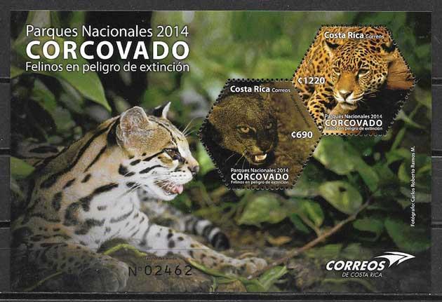 sellos fauna Costa Rica 2014