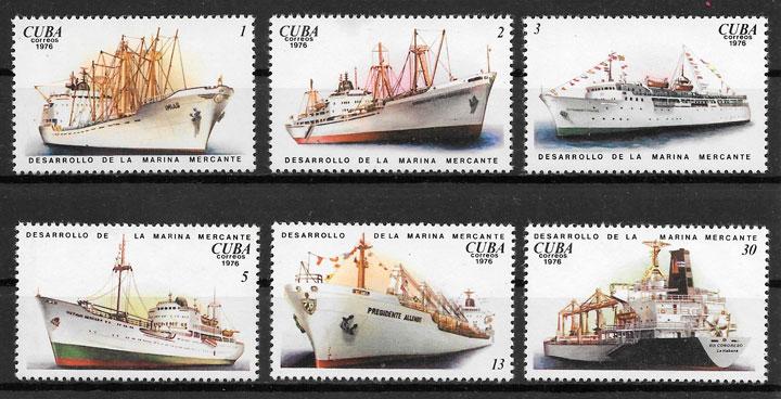 sellos transporte Cuba 1976