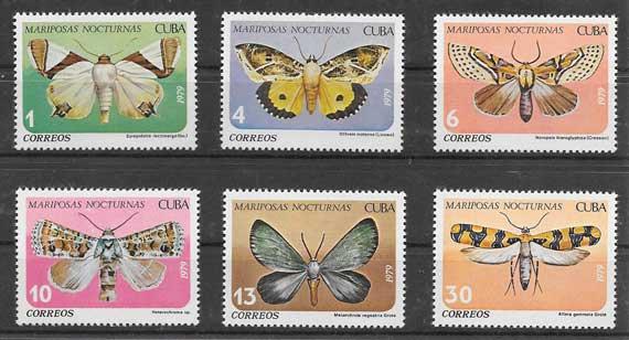Sellos mariposas Cuba 1979