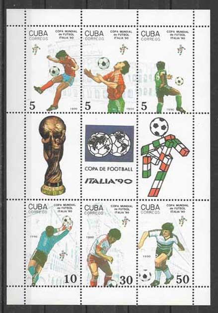 Sellos deporte Cuba-1990-01