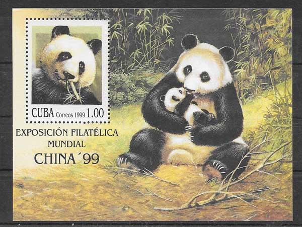 Colección sellos fauna Cuba 1999
