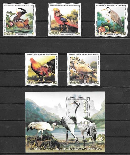 Sellos fauna diversa Cuba 2001