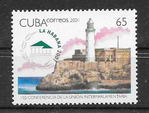 Colección sellos Faro de Cuba 2001