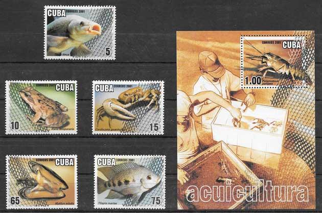 Sellos pesca cubana 2001