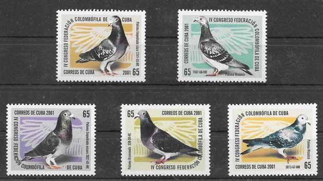 Sellos fauna - aves cubanas 2001