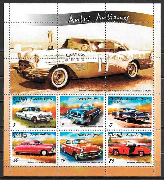 filatelia transporte Cuba 2002