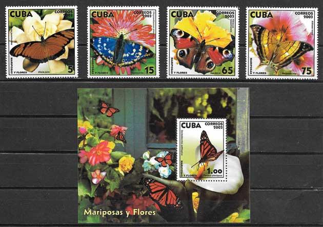 Estampillas fauna cubana del 2002