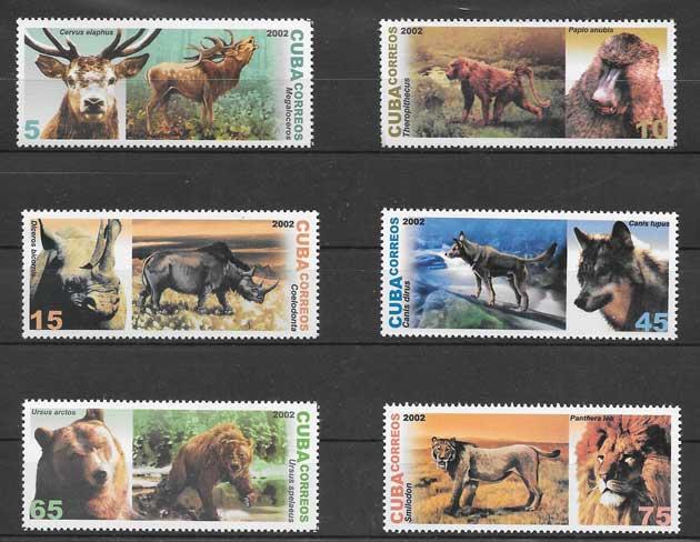 Filatelia sellos diversidad de fauna Cuba 2002