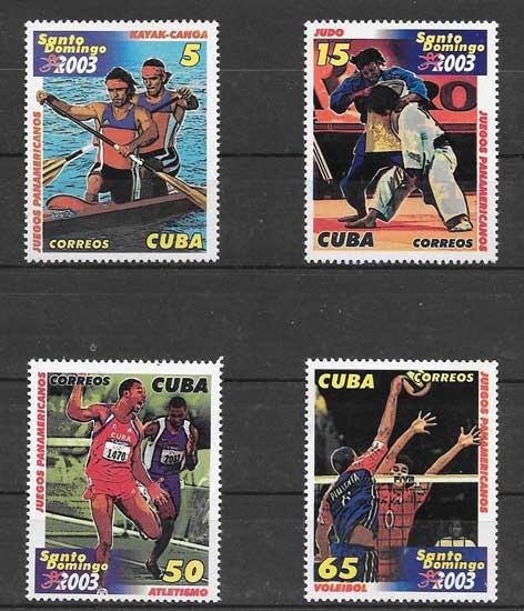 Filatelia deporte cubano 2003