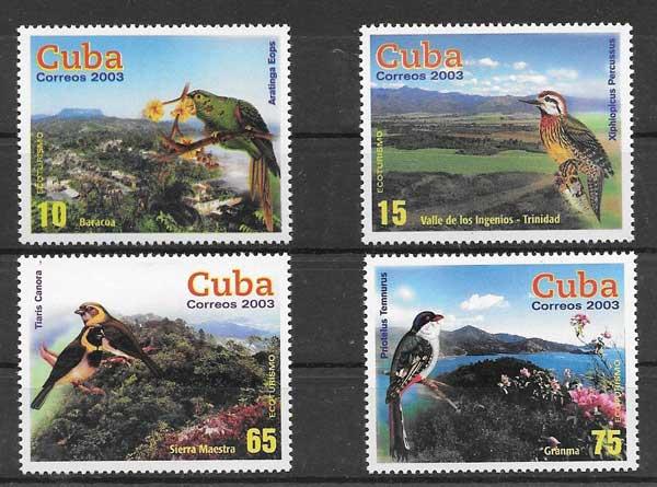 Filatelia fauna cubana y paisajes