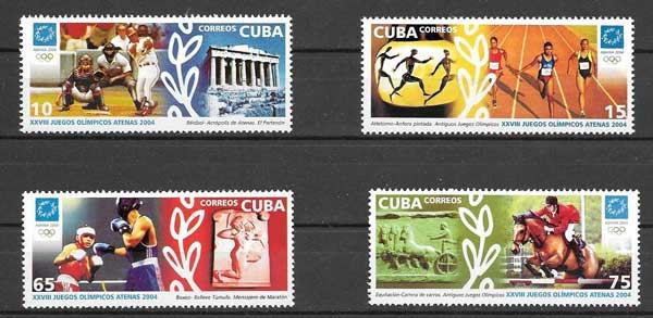 Colección sellos Olimpiada Atenas 2004