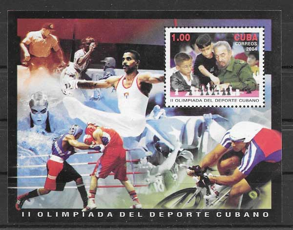 Colección sellos II Olimpiada cubana 2004