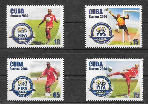Sellos Centenario de la FIFA 2004