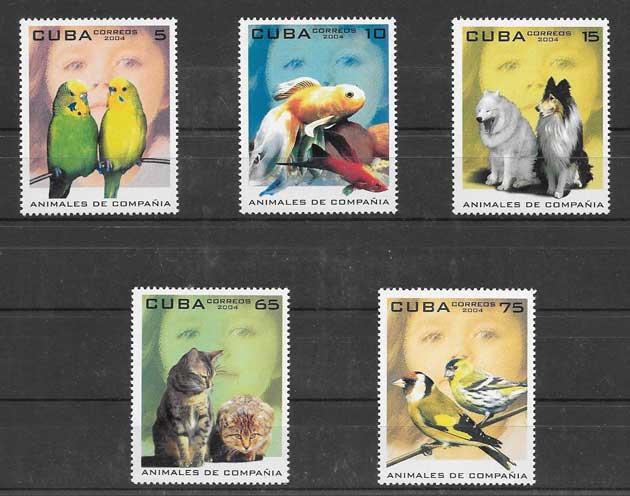 Filatelia sellos fauna cubana 2004