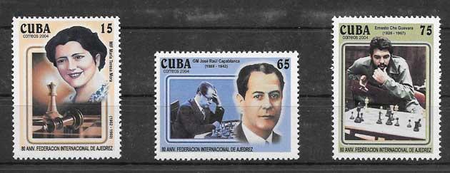 Sellos figuras del deporte cubano