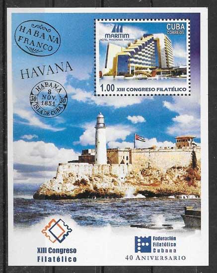 Colección sellos faros Cuba 2004