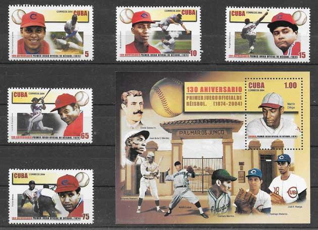 Sellos Beisbol deporte nacional cubano
