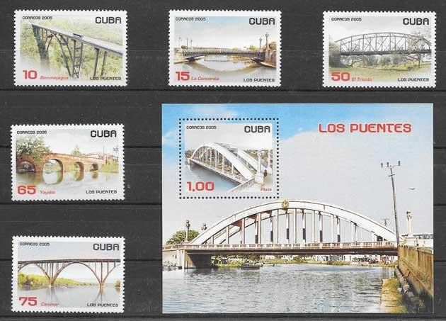 Sellos puentes cubanos 2005