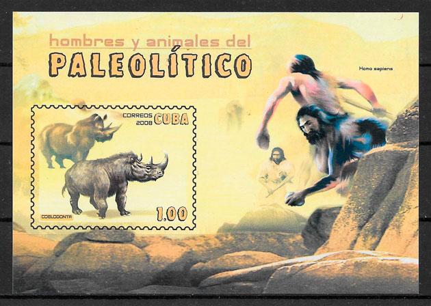 colección sellos dinosaurios Cuba 2008