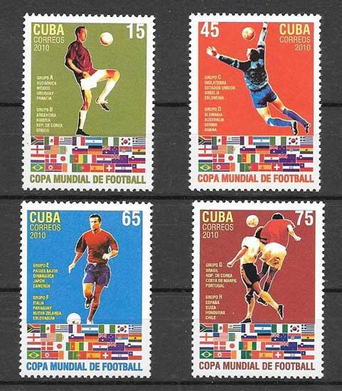 Sellos Filatelia copa del mundo 2010