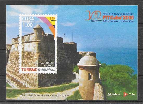 Filatelia turismo cubano del Oriente