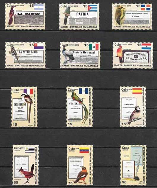 Colección sellos Cuba-2010-16