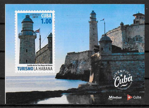 sellos faros Cuba 2011