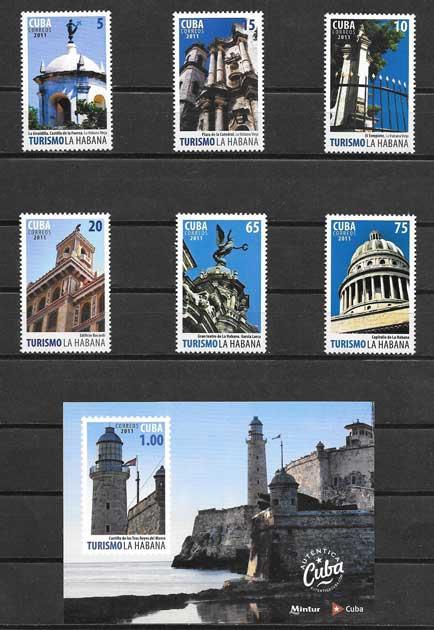 Colección sellos turismo de la Habana 2011